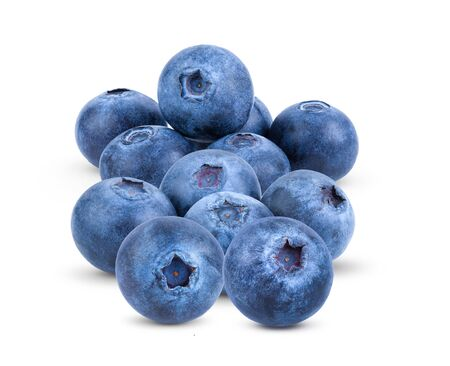Photo pour Fresh blueberry  isolated on white background . full depth of field - image libre de droit