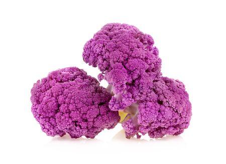 Foto für Purple cauliflower on white background - Lizenzfreies Bild