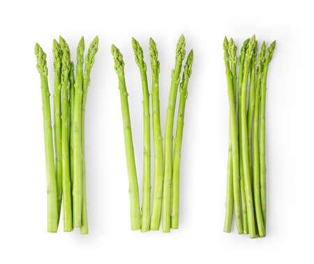 Foto für Asparagus isolated on white background. top view - Lizenzfreies Bild