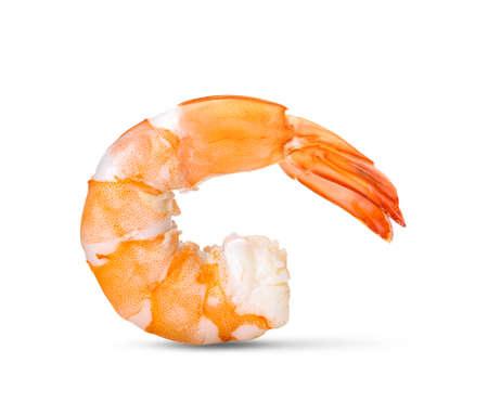 Photo pour Cooked shrimps isolated on white background. - image libre de droit