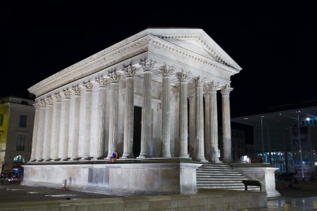 Roman Temple in Nimes (France)