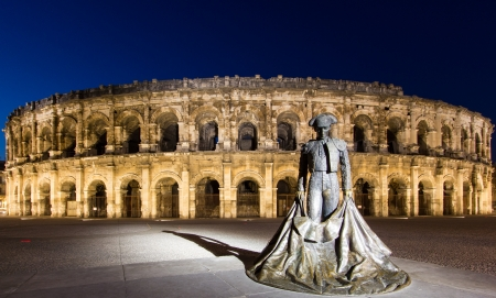 The Arena of Nimes is a Roman amphitheatre found in the French city of Nimes