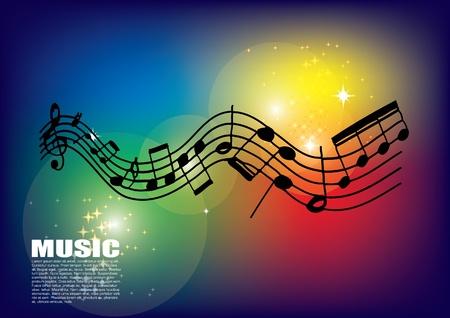 Illustration pour music background - image libre de droit
