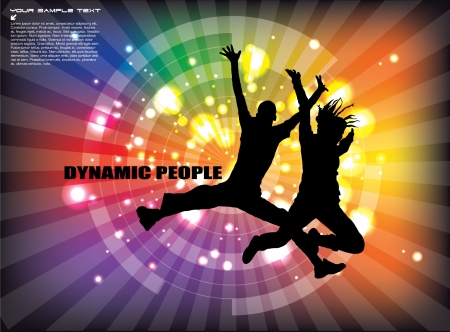 dynamic people background