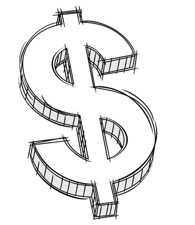 Doodle of money sign