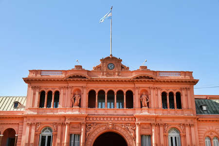 The Casa Rosada, the governmental building in Buenos Aires, the Capital of Argentina.