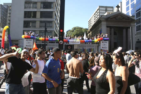 Gay Parade in the Center of Sao Paulo, 06.06.2010.