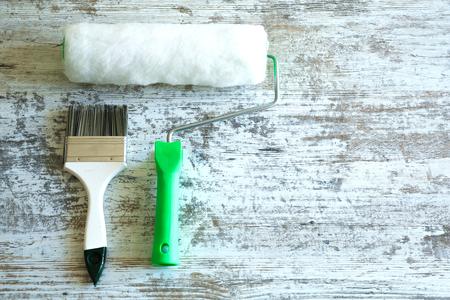 Photo pour Painting Tools for home renovation. - image libre de droit