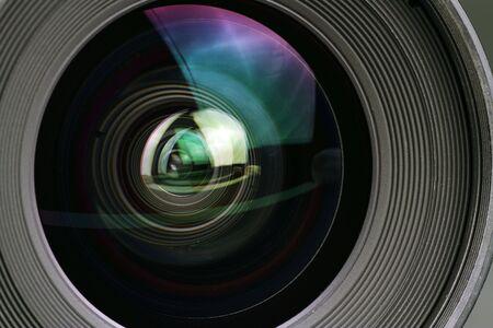Macro shot of a camera lens