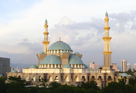 The Federal Territory Mosque at Kuala Lumpur, Malaysia