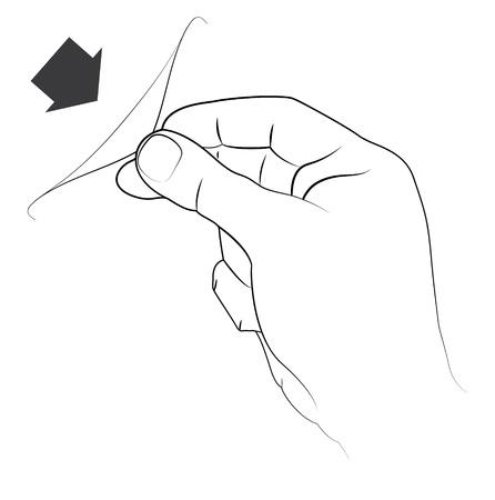 pulling a sticker
