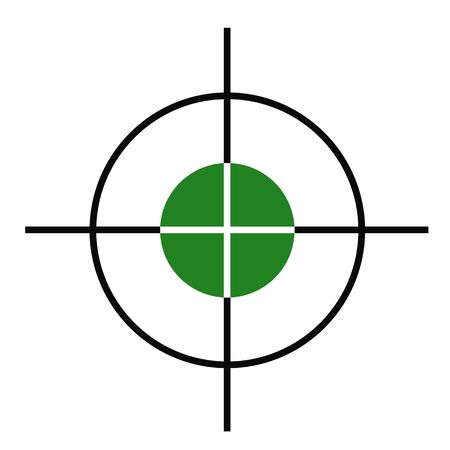 Illustration of rifle or gun cross hairs target sight.