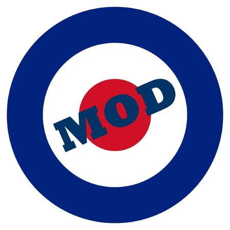 Mod target sign, isolated on a white background.
