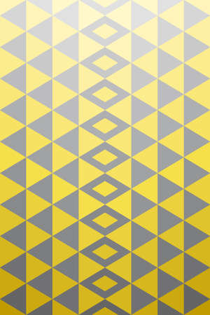 Illustration for Geometric background pattern. Yellow gray triangle shape, gradient from bright to dark.  Vector illustration. - Royalty Free Image