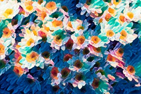 Photo pour abstract daisy in bloom in spring - image libre de droit