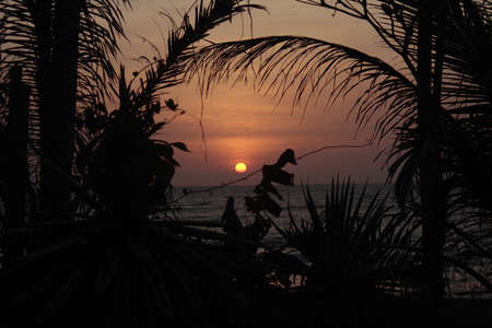 Sunset in Chaung-Tha Beach Myanmar