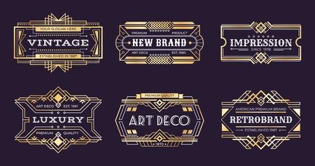 Illustration for Art deco labels. - Royalty Free Image