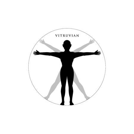Illustration pour Vitruvian Person. Isolated Vector Illustration - image libre de droit