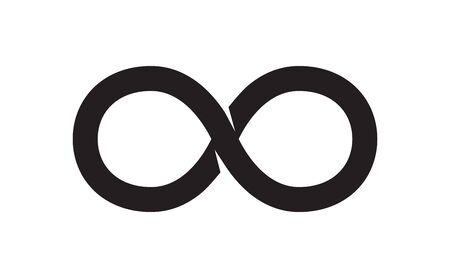 Ilustración de The Black Unlimited Sign. Vector Illustration - Imagen libre de derechos