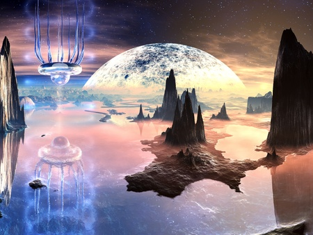 Alien Creature on Distant Planet