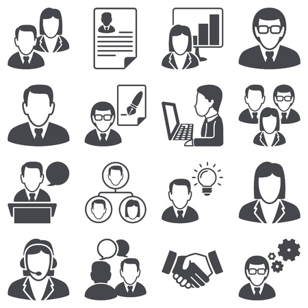 Icons set  Business people