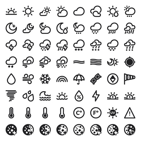 Set of flat icons about The Weather