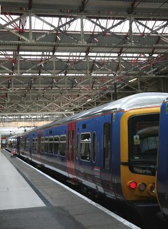 London, England, July  2009 - Waterloo train station