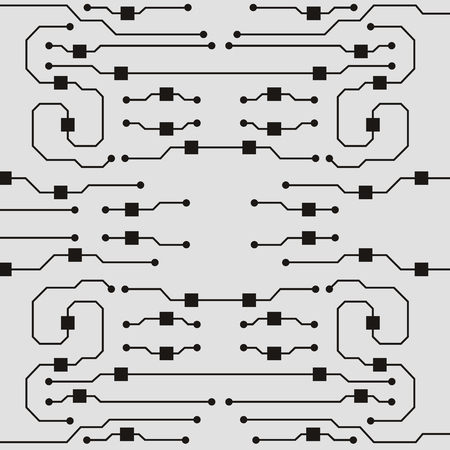 Illustration pour Vector circuit board illustration. Abstract circuit board background - image libre de droit