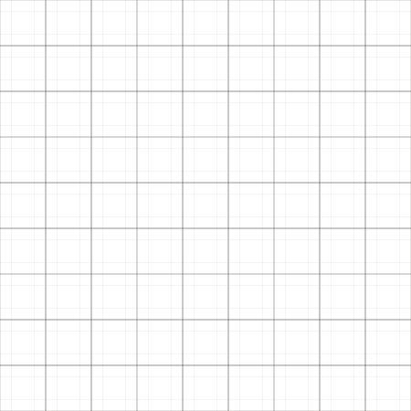 Illustration pour Vector simple graph paper seamless background. Abstract blueprint paper illustration - image libre de droit