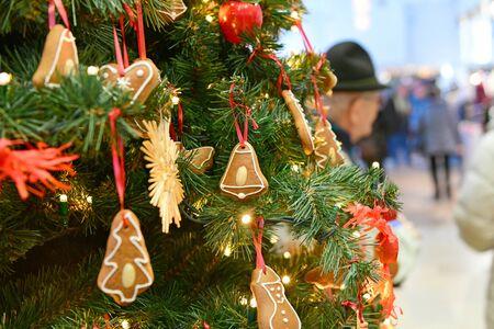 Christmas tree in Bad Ischl (Gmunden district, Upper Austria)