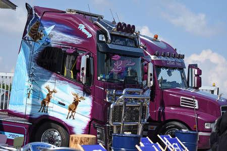 Big trucker meeting in Upper Austria (Austria) - once a year there is a big trucker meeting in Upper Austria with about 400 trucks