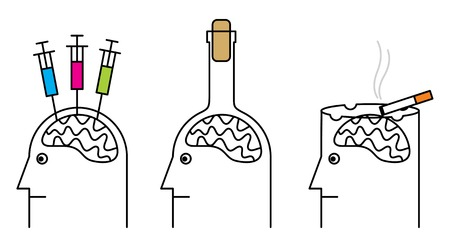 Habits harmful to health. Smoking, drug addiction, alcoholism.