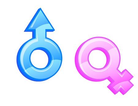 Gender symbols. Vector illustration.