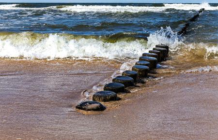 Breakwater on the Baltic Sea
