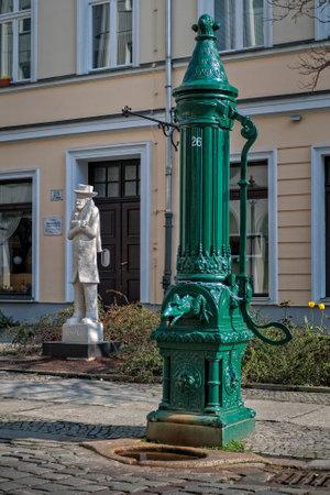 an old water pump in Berlin