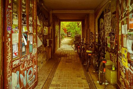 filthy hallway in Berlin Prenzlauer Berg
