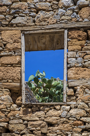 window in an old fortress