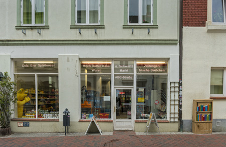 Retail in a village in germany