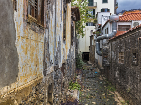 Dried out riverbed in funchal on madeira