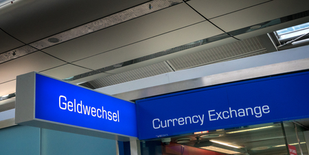 Currency exchange at the airport