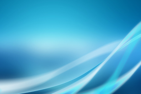 Abstract blue background with soft curves and bright light