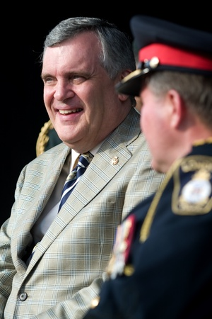 London Ontario, Canada - July 13, 2010: Ontario Lieutenant Governor David Onley is the guest of honour at the opening ceremonies of the 2010 Special Olympics, Canada Summer Games.