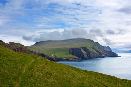 Remote island of Mykines, Faroe Islands .