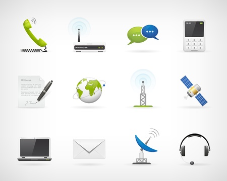 Photo for Set of detailed communication vector icons  Isolated from background  Each icon in separately folder  - Royalty Free Image