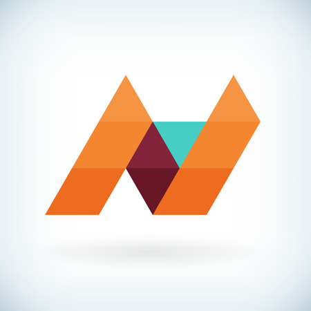 Modern letter N icon flat design element template. isolated.