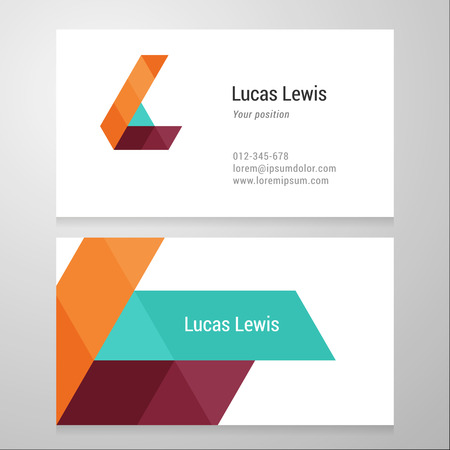 Modern letter L Business card template. Vector design. Layered, editable.