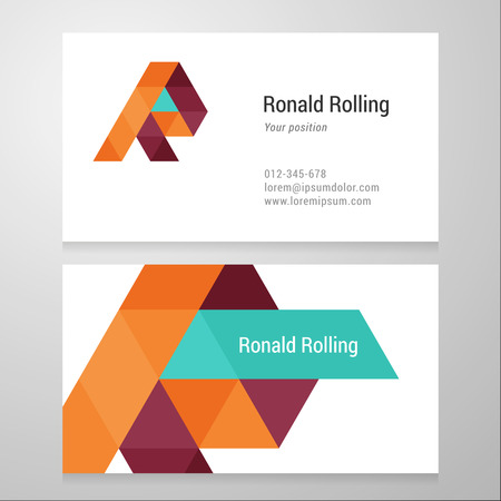 Modern letter R Business card template. Vector design. Layered, editable.