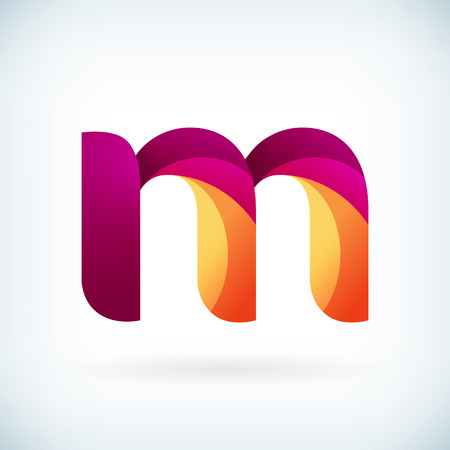 Modern twisted letter m icon design element template