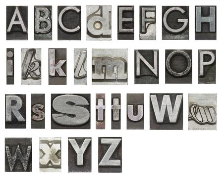 Block letters isolated on white