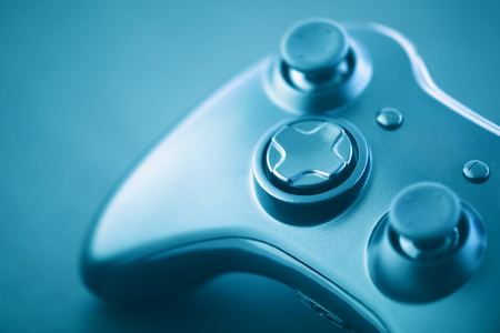 Photo pour Video game controller macro shot - image libre de droit